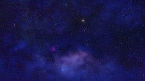 Starfield vor Nebelflecken Stockbild