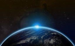 Starfield wszechświat zdjęcia royalty free