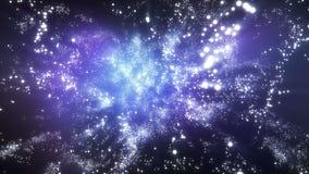 Starfield z jaśnienie gwiazdami ilustracji
