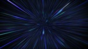 Starfields в космосе с гипер скачкой скорости в другую предпосылку галактики иллюстрация штока