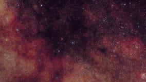Starfields - vía láctea en la constelación de Scutum almacen de video
