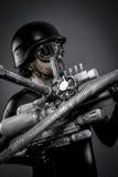 Starfighter с огромной винтовкой плазмы, концепцией фантазии, войсками он Стоковые Изображения