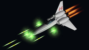 Starfighter shooting his four guns Royalty Free Stock Images