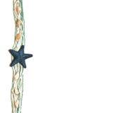 starfish предпосылки голубые романтичные Стоковые Фотографии RF