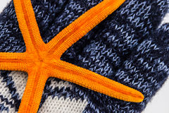 Starfish auf dem Handschuh Stockbilder