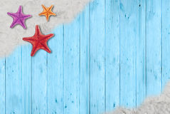 Starfish auf Sand Lizenzfreies Stockfoto