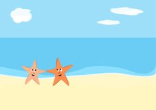 Starfish auf Strand Stockfoto