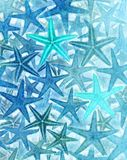 Starfish Background. Abstract Blue and Green Starfish Background Stock Photos