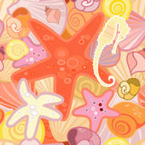 Starfish  background in crustacean. Vector illustration of a starfish  background in crustacean Royalty Free Stock Images