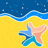 Starfish. Background for design on sea subjects with a beach Stock Photography