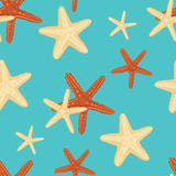 Starfish background pattern Royalty Free Stock Photos