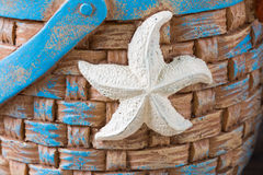 Starfish on Basket Stock Images