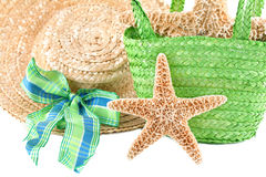 Starfish with Beach accesories Stock Photo