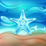 Starfish on the beach vector Stock Photography