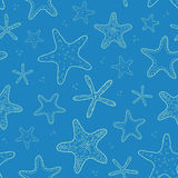 Starfish blue texture seamless pattern background Royalty Free Stock Photos