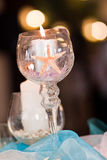 Starfish in candle at wedding Royalty Free Stock Photography