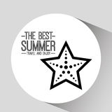 Starfish card best summer travel and enjoy Royalty Free Stock Photography