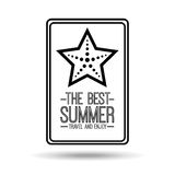 Starfish card best summer travel and enjoy Royalty Free Stock Photo