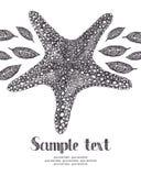 Starfish card Stock Image