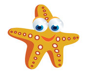 Starfish cartoon. Funny colored starfish cartoon smiling Royalty Free Stock Images