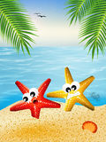 Starfish cartoon Stock Photo