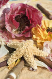 Starfish and Flowers Royalty Free Stock Photography
