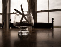 Starfish in a glass Royalty Free Stock Photos