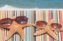 Starfish on holiday Stock Images