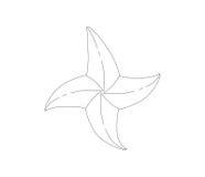 Starfish Icon Design Stock Image