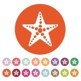 The starfish icon. Ocean symbol. Flat Royalty Free Stock Photos