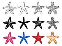 Starfish icon set Royalty Free Stock Photo