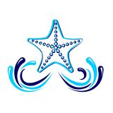 Starfish  icon vector Royalty Free Stock Photos