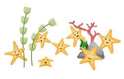 Starfish. Illustrator of isolated starfish Royalty Free Stock Photos