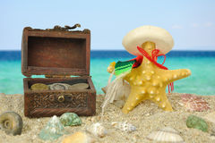 Summer beach scene Royalty Free Stock Photo