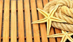 Starfish mit Seil Lizenzfreies Stockfoto