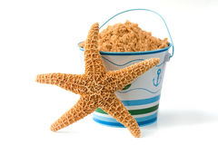 Starfish and pail Royalty Free Stock Image