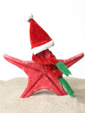 Starfish Papai Noel imagem de stock royalty free
