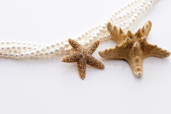 Starfish and pearl Royalty Free Stock Photography