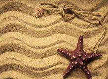 Starfish with sand Stock Photo