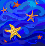 Starfish in the sea Royalty Free Stock Image