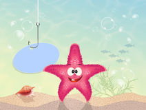Starfish on seabed. Illustration of starfish on seabed Stock Photos