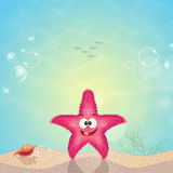 Starfish on seabed. Illustration of starfish on seabed Royalty Free Stock Image