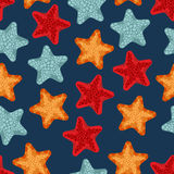 Starfish seamless pattern. vector illustration