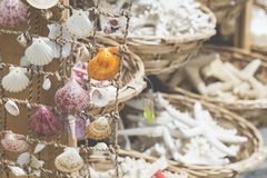 Starfish and seashells souvenirs for sale Stock Photography