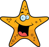 Starfish Smiling. A cartoon gold starfish smiling and happy Stock Photos