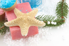 Starfish And Soap Royalty Free Stock Images