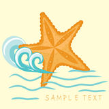 Starfish. Summer card. Stock Photos