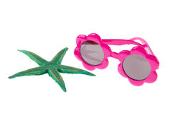 Starfish and sunglasses Stock Image