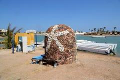 Starfish - symbol of El Gouna on shuttle boat. In Egypt Stock Photos