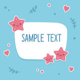 Starfish text template Royalty Free Stock Images